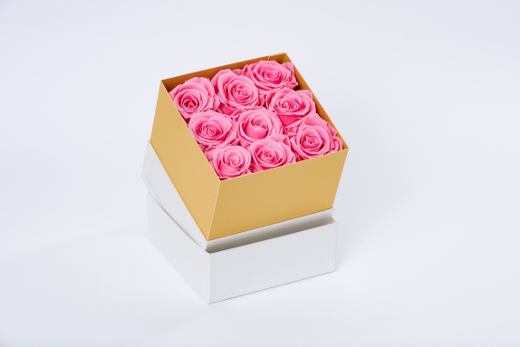 flobox Pinke Rosen konserviert