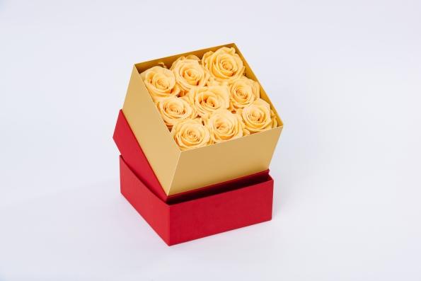 flobox Beige Rosen konserviert
