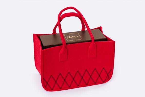 Filz-Shopper rot mit flobox